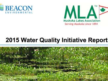 MLA WATER QUALITY REPORT FOR 2015