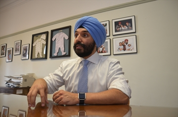 Navdeep Bains, Minister of Innovation, Science and Economic Development, is pictured in his Parliament Hill office on June 18, 2018.
