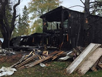 Century home gutted by fire near Lisle