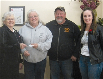 Community - On Thursday, Nov 13, the Salvation Army received a donation of $780 from Big Daddy Cowpaddy. Shown here Major Faith Cameron of Salvation Army, with Susie Kinghorn, treasurer of Big Daddy Cowpaddy, Greg Kinghorn aka