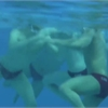 Pan Am water polo players on rough play below the surface