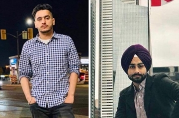 Gurpreet Singh (left) and Karambir Singh died in a truck crash in Thunder Bay on Thursday, Jan. 9.