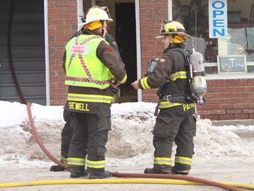 Fire call closes Stayner's main street