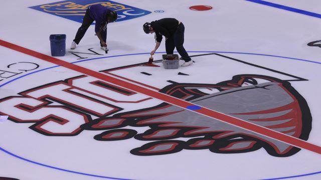 Logo on ice