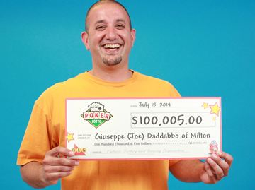 Milton man wins $100K