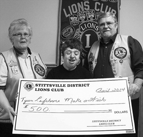 Lions give $500 to 'Tysen's Mission To A Million'– Image 1