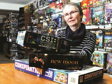 Cathy Whitcombe of GoGo Grannies is looking forward to their board game fundraiser on April 6.