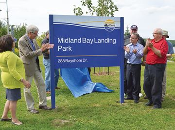 Midland celebrates 'historic day' on waterfront